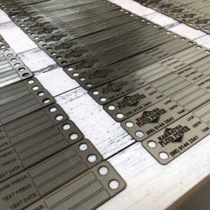 Steel industrial Tags & Labels